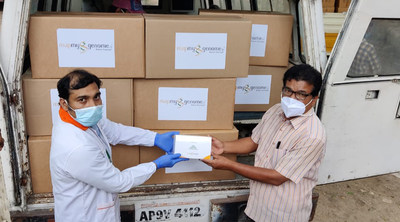 Zymo Research pays it forward by donating one million DNA/RNA Shield - DirectDetect™ test kits to Mapmygenome™ based in Hyderabad, India.